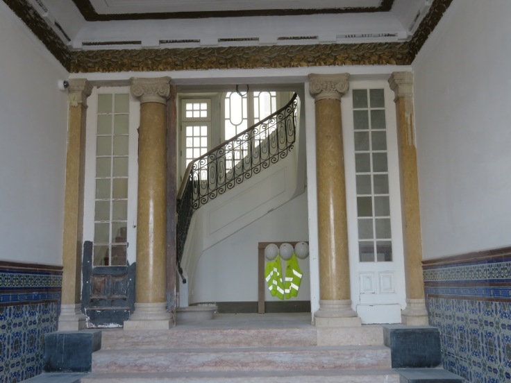 A large old hotel is being renovated and the front door was slightly ajar, which I took as an invitation. I wandered the main floor a little and the grandeur it once possessed is evident. I am certain it will shine once again when they are finished.