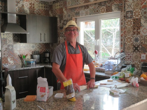Our dessert maker.........yes, he is dapper with his hat on!!