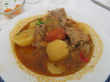 Pat, Marc and myself had the tuna stew........intense flavours, tender.......crying out for chunks of bread to soak up the broth.