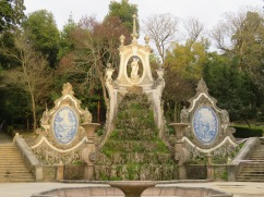 A close-up of the fountain area.