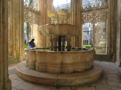 A fountain in one of the cloisters.