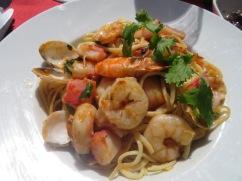 I had this delicious seafood pasta dish