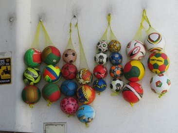 Imagine, soccer balls in Portugal!