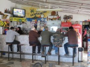 We stopped in Cachopo for a bic. The locals enjoying a coffee and a gab.