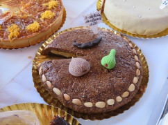 The famous fig/almond/carob and honey torte.
