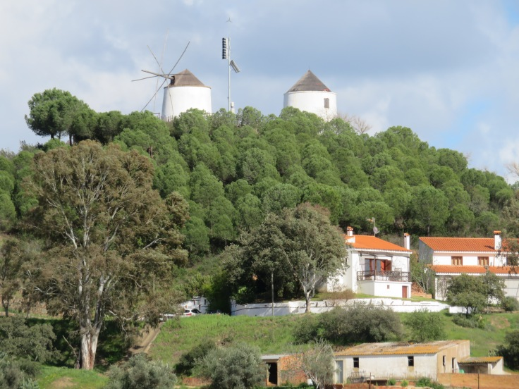 Old wind-mills in Sanlucar de Guadiana