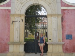 Laurie outside the Pousada gates.