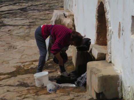 OK, this woman was actually doing her laundry at the spring!!!