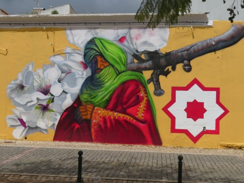 A new and beautiful wall display in Silves.