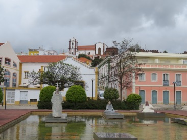 The cathedral in Silves......I love the shot up through the streets.