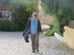 Marc coming up through the walkway at our quinta.