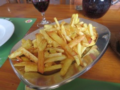 We shared this enormous platter of probably the best french fries I've had while in Portugal.