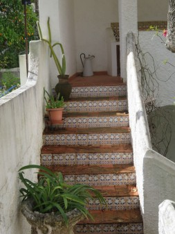 I love this small staircase at the side of a private home.