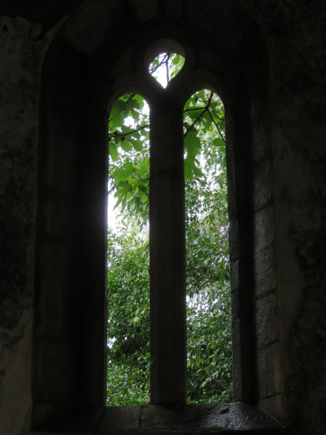 This old window was hidden away inside what looked like a narrow walkway. Until you stepped in to it, you couldn't see the window at all.