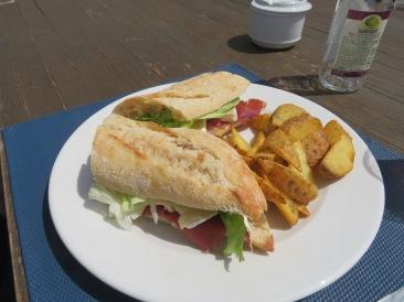 Laurie's brie and presunto sandwich.