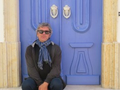 We are both drawn to the colour of this door.