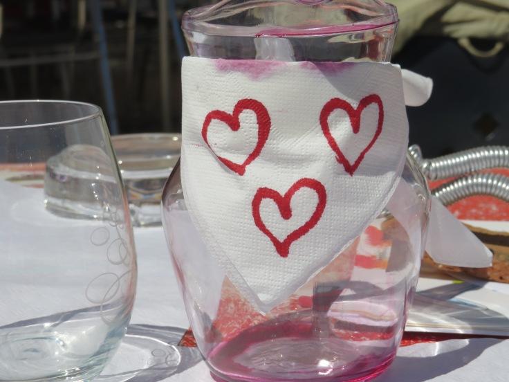 Ana decorated Marc's wine jug