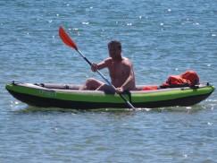 A lone kayak-er