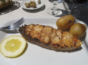 Perfectly grilled corvina.