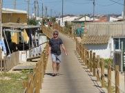 Marc enjoying a stroll through the old fishermen's village on Faro Island.