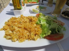The dish of the day was bacalhau à brás which delighted both of us.