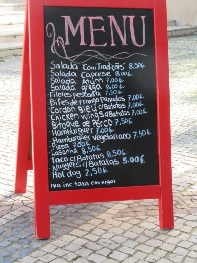 "The ""regualr"" menu at Snack Bar Com Tradiçoes, Estoi"
