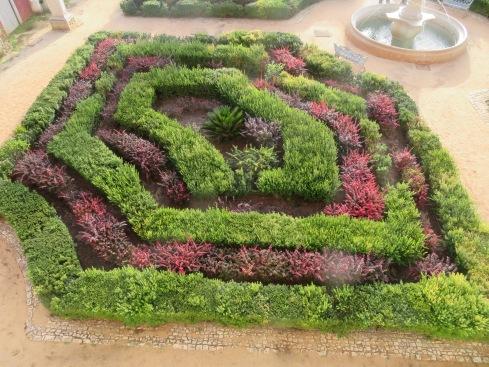 The formal gardens at the Pousada