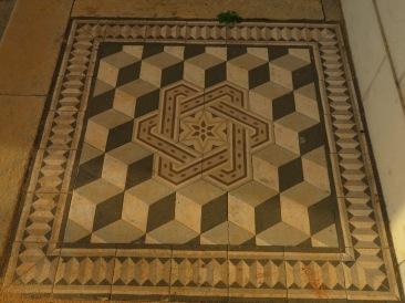 A tiled floor decoration I happened to like.