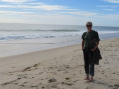 """Yes, I am squealing with delight. My first """"toes in the sand"""" experience this trip. Certainly not my last."""