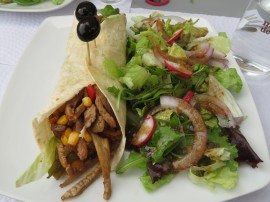I had this tasty, heavenly spiced pork taco.