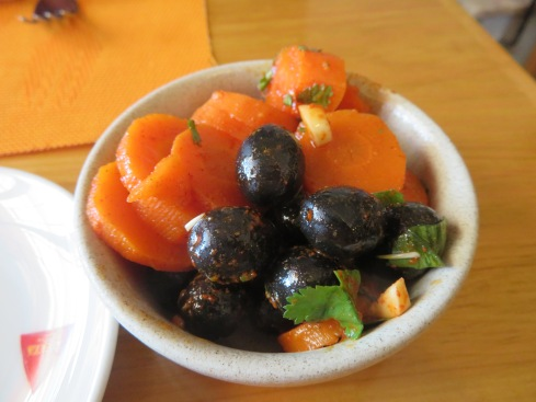 Traditional Algarvian carrots and olives. Delicious