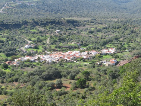 The tiny village of Penina below, which was our next destination on the journey down.