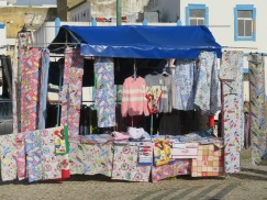 A small gypsy market was set up on the opposite side of the market buildings.....lots of tablecloths today, especially Christmas design.