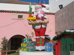 One of the many Santa's in the children's village.