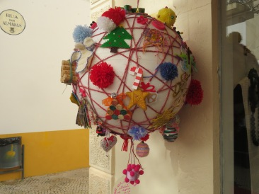 I love the Christmas balls made of recycled products.