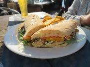 James had a fish sandwich.