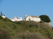 This is the church at the top of the hill from the beach.