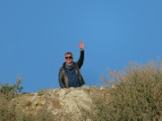As I headed back the beach I recognized Marc at the top of the cliffs. I love my zoom.