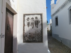 There are charcoal drawings throughout the village. A couple of new ones since my last visit.