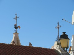 The top of the church.