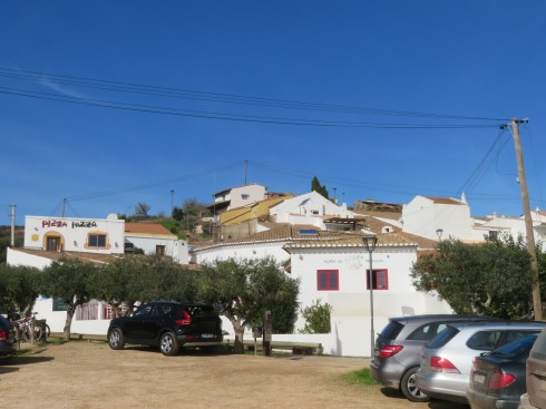 The tiny town of Pedralva, in a valley therefore hidden from the roads above.