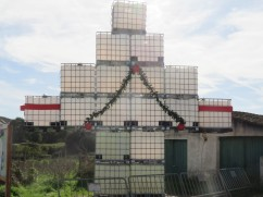 The local, very creative, Christmas Tree. I'd love to see it lit up at night!