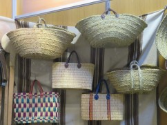 Beautiful hand made baskets.....I keep promising myself I will purchase one but I can't see myself shopping with it in Ottawa!!