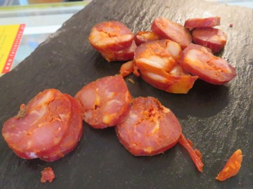 Look closely at this chorizo and tell me you didn't salivate??