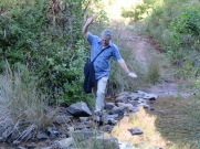 We crossed the river at a couple of places........good balance!