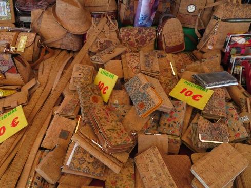 Cork wallets, glasses cases etc..