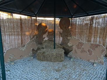 The Nativity scene is being assembled, this year, entirely made of cork.