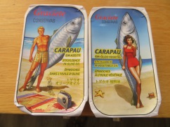 OK, how could I NOT take a photo of these two cans of fish!!!