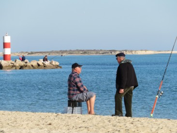 This fisherman and his friend had a grand chat, probably solving all the problems of the world. On a sunny and gorgeous day like this one, it felt possible.