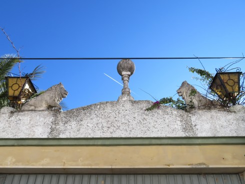 This was a challenge to photograph but I liked how the ostentatiousness didn't match the village at all yet, it worked!